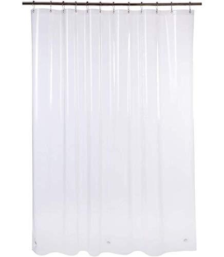 AmazerBath Plastic Shower Curtain, 72 x 72 Inches EVA 8G Shower...