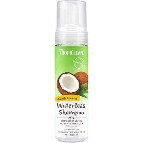 TropiClean Hypoallergenic Waterless Shampoo for Dogs, 7.4oz - Made in USA