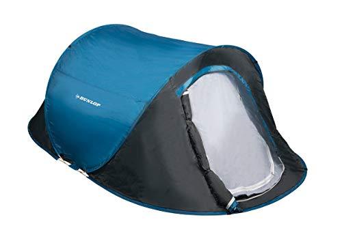DUNLOP 1 Persons Pop-up Tente Camping Outdoor, Bleu/Gris, 220 x 120 x 90 cm...