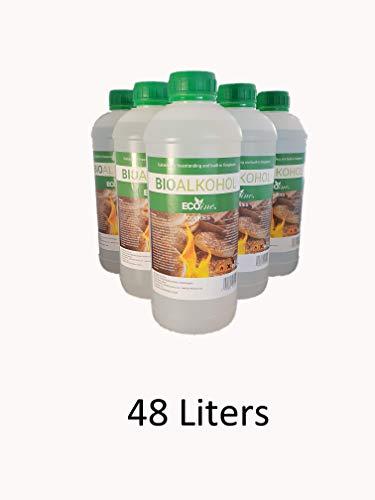 Bioethanol Scented Liquid Fuel Eco Line Premium Grade Quality, Clean Burn 1L Containers (Cookies, 48L)