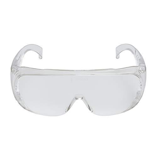 3M VisitorC Schutzbrille für Brillenträger, leichte Elektrowerkzeugarbeiten, Schutz gegen Splitter, 99.9{47cb2c061dd2b6de7ad77c2fbee40b6373ea718d6f0e7be57f1384d1c0bb6e1f} UV-Schutz, Klare Polycarbonatscheiben