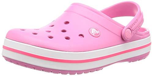 Crocs Crocband, Zuecos Unisex Adulto, Rosa (Pink Lemonade/White 62p), 39/40 EU