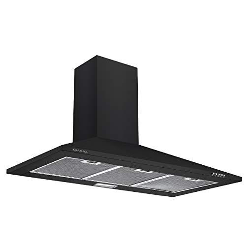 CIARRA CBCB9201 Cappa da cucina 90 cm, colore: Nero]