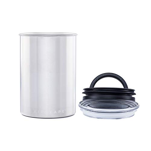Product Image 2: Airscape Coffee and Food Storage Canister - Patented Airtight Lid Preserve Food Freshness with Two Way Valve, Stainless Steel Food Container, Medium 7-Inch Can, Brushed Steel