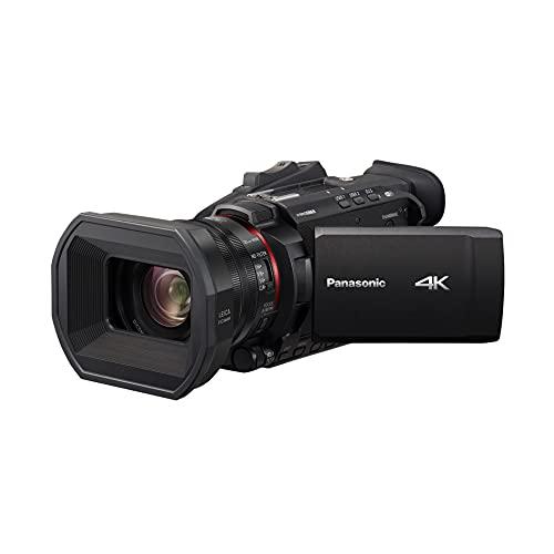Panasonic X1500 | Caméscope Semi-Pro 4K (Qualité vidéo 4K 60p, Zoom Optique Leica 24x, 25mm, Stabilisé, Viseur, Enr. Interne 4:2:2 10 bit 4K, Live Streaming FHD) Noir – Version Française