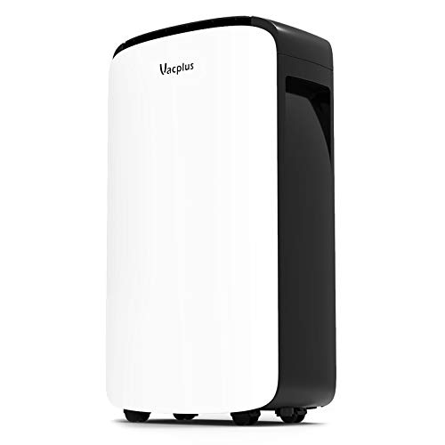 Vacplus 30 Pints Dehumidifier for Medium Rooms, Home Basements Bedroom - Efficiently Removes Moisture with Auto-shutoff and Continuous Drainage Outlet Timing Shutdown/Start-up