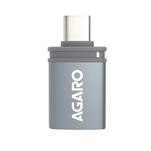 AGARO - 33283 Type-C to USB A Female OTG Adapter - (Metallic Grey)