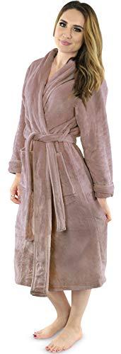 NY Threads Women's Fleece Bathrobe - Shawl Collar...