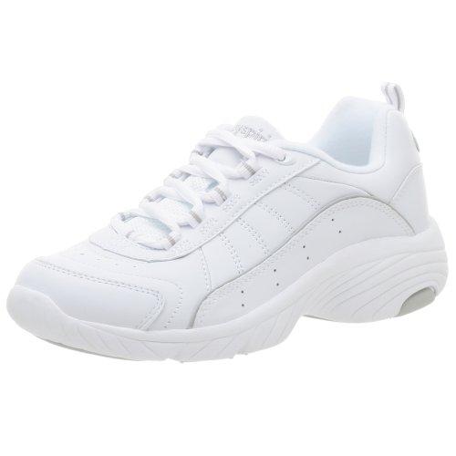 Easy Spirit Women's Punter Athletic Shoe,White/Light Grey,7.5 M