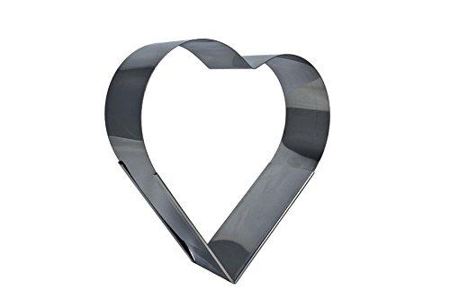 Herz Backrahmen Edelstahl bis ca.38 cm ausziehbar