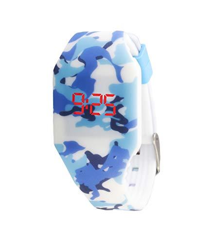Orologio digitale a LED KIDDUS per bambini, ragazze, adulti. Cinturino comodo in morbido silicone....
