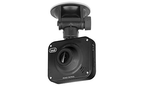 Cámara de seguridad para coche Trevi DV 5000 Dash Cam, visión nocturna, grabación automática con sensor de detección de golpes o movimiento, fácil instalación, negro