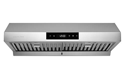 Hauslane | Chef Series 30' PS18 Under Cabinet Range Hood, Stainless Steel | Pro Performance | Contemporary Design 860 CFM, Touch Screen, Dishwasher Safe Baffle Filters, LED Lamps, 3-Way Venting
