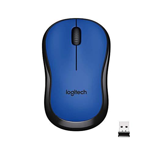 Logitech M220 Souris sans Fil, Boutons Silencieux, 2,4 GHz avec Nano-Récepteur, Suivi Optique 1000 PPP, Batterie Longue Durée 18 Mois, Ambidextre, Compatible avec PC/Mac/Portable - Bleue