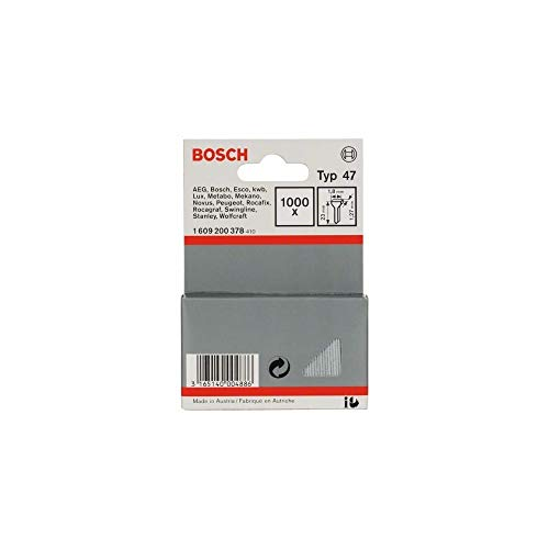 Bosch Professional 1609200378 - Chiodo tipo 47, argento, 1,8 x 1,27 x 23 mm