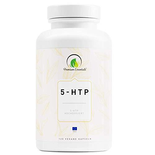 5-HTP   Vegane Kapselform   5-Hydroxytryptophan (Vegan) ULTRA HOCHDOSIERT   Griffonia Samen Extrakt   UNTERSTÜTZUNG FÜR DEN SEROTONIN-SPIEGEL (120)