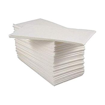 Pack of 100 Luxury White Paper Airlaid Disposable Paper Hand Towels/Napkins - 8 Fold (4x Packs of 25)