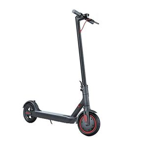 LKNJLL Scooter eléctrico, Vespa Plegable con LED Trasera de la Linterna, 300W Motors, Pantalla LCD Sistema de Frenos…