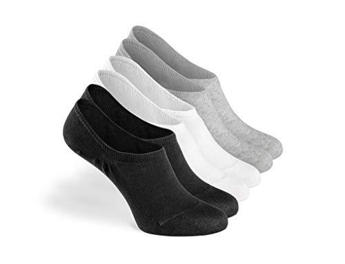 Greylags Calzini Premio Qualit Confortevole Seamless Invisible Sneaker Calzini | Cotone Pettinato Calzini | Uomo e donna | 88% cotone | Certificato Oeko-Tex Standard 100 | Confezione da 6