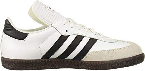 adidas Men's Samba Classic Running Shoe,white/black/white, 10.5 M US
