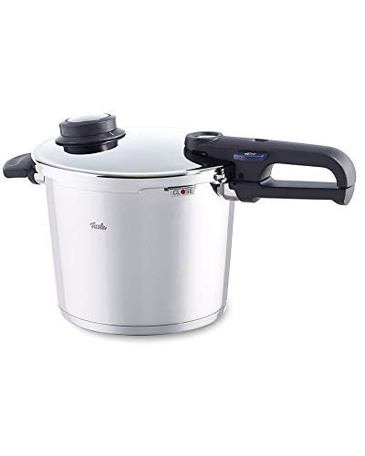 Fissler Pentola a pressione, 22 cm, 6 litri, Per tutti i piani cottura, Funzione cottura a vapore, Acciaio inox, Vitavit Premium