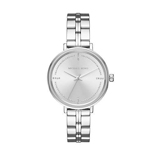 Michael Kors Damen Analog Quarz Uhr mit Edelstahl Armband MK3791
