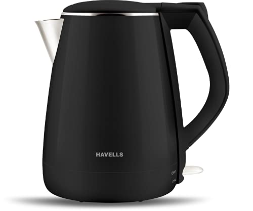 Havells Aqua Plus 1.2 litre Double Wall Kettle / 304 Stainless Steel Inner Body / Cool touch outer...