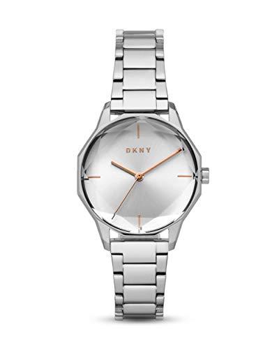 DKNY Damen-Uhren Analog Quarz One Size Silber Edelstahl 32002240