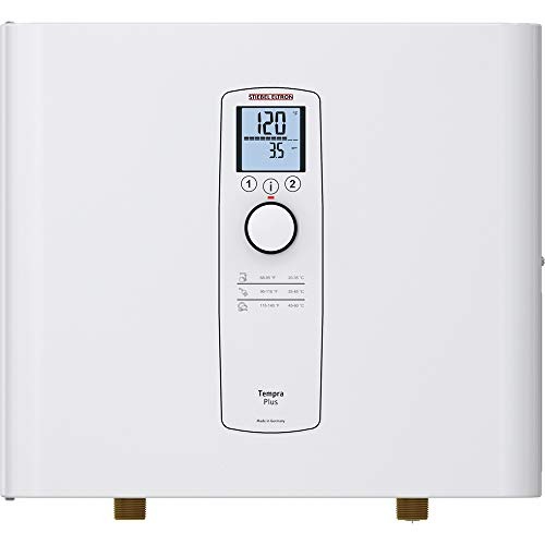 Stiebel Eltron Tankless Water Heater – Tempra 15 Plus – Electric, On Demand Hot Water, Eco, White