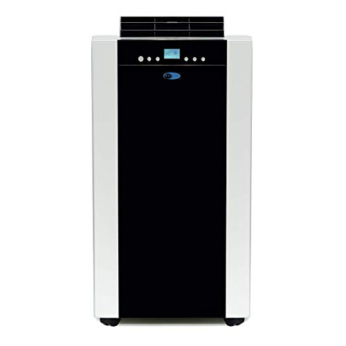 Whynter ARC-14SH 14,000 BTU Dual Hose Portable Air Conditioner, Dehumidifier, Fan & Heater with Activated Carbon Filter Plus Storage Bag, Platinum Black