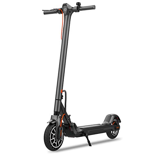 Hiboy MAX V2 Electric Scooter - 8.5' Solid Tires, Up to 17 Miles & 18.6 MPH, Front & Rear...