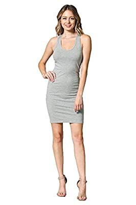 DESIGN FEATURE: Round Scoop Neck and Mini Length above the knee Skirt in a slim bodycon fit which makes tight to the body in comfort, Designed with style and versatility in mind this dress is perfect for any occasions **BOTH MIDI & MINI LENGTH AVAILA...