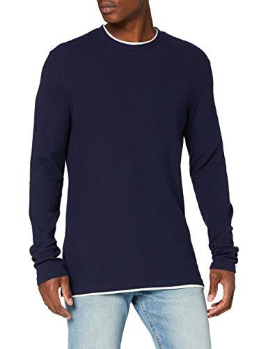 Springfield 3Ip Estructura Doble-C/12 Camiseta, Azul (Medium_Blue 12), L (Tamaño del Fabricante: L) para Hombre