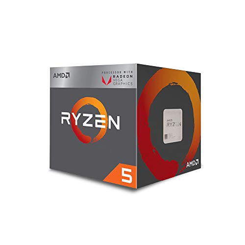 AMD Ryzen 5 3400G with Radeon RX Vega 11 Graphics Desktop Processor 4 Cores up to 4.2GHz 6MB Cache AM4 Socket (YD3400C5FHBOX)