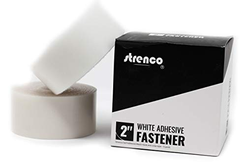 Strenco 2' Self Adhesive - Hook and Loop - 5 yards - Sticky Back - White Tape Fastener