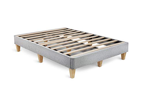 Leesa King Platform Bed Mattress Foundation, Gray