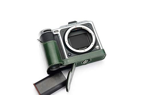 TP Original Hasselblad X1D X1D II 50C 専用 オープナブルタイプ 本革 ボディケース 緑色(底面開閉)