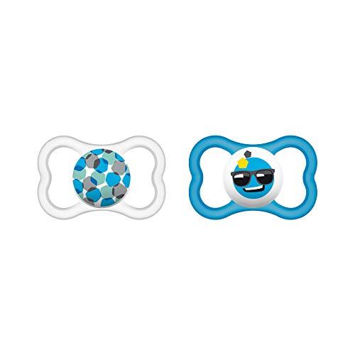 MAM 226311 - Ciuccio'Air' in silicone per bambini dai 16 mesi in su, confezione doppia, colori assortiti