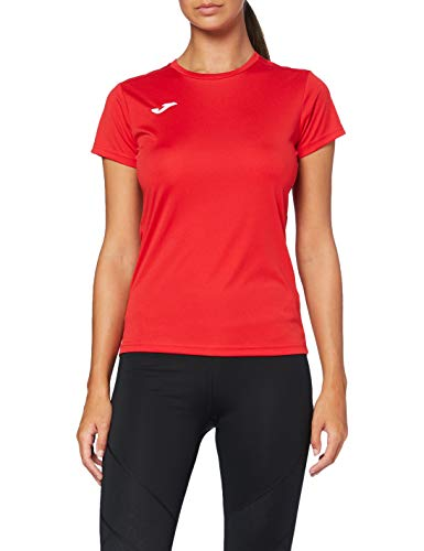 Joma Combi Woman M/C Camiseta Deportiva para Mujer de Manga Corta y Cuello Redondo, Rojo (Red), S