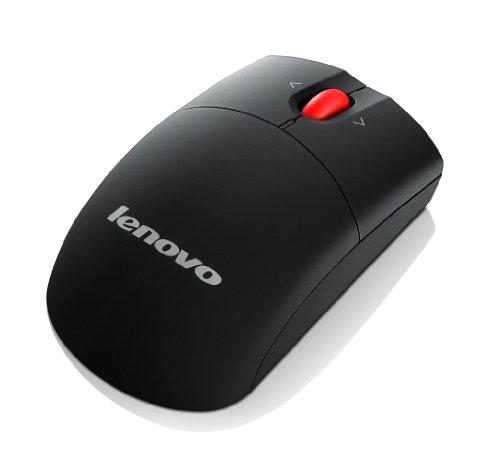 Lenovo Laser Wireless Mouse - Ratón óptico (RF inalámbrico, 1600 DPI, USB), negro