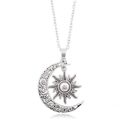 Beito Las Mujeres De La Media Luna Luna Y El Sol Collar del Símbolo De Yin Yang Colgante Gargantilla Joyería