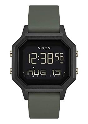 NIXON Siren SS A1211 - Gold/Black - 100m Water Resistant Women's Digital Sport Watch (36mm Watch Face, 18mm-16mm Silicone Band)