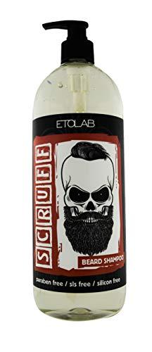 Etolab, shampoo per barba, formula delicata, rimuove impurità e odori, 1000 ml