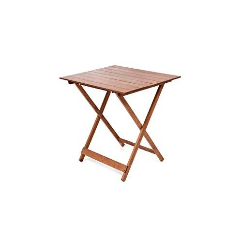 Tavolo tavoli legno pieghevole 60 x 80 regolabile in altezza colore noce lucido tavolo da giardino...