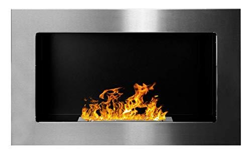 Bio Ethanol Fire BioFire Fireplace Modern 650 x 400 Stainless steel …