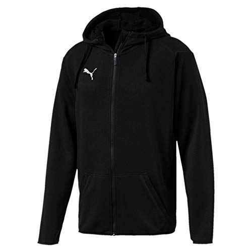 Puma Liga Casual Hoody Jacket, Giacca Uomo, Nero Black White), S
