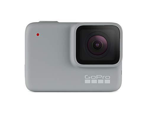 GoPro HERO7 White Fotocamera digitale ad azione impermeabile con touch screen, video HD 1440p, foto da 10 MP