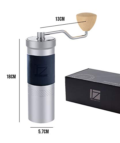 1Zpresso JX-PRO Manual Coffee Grinder Light Gray Capacity 35g with Assembly Stainless Steel Conical Burr - Numernal Adjustable Setting, Portable Mill Faster Grinding Efficiency Espresso to Coarse 2
