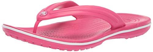 Crocs Crocband Flip 11033, Infradito Unisex Adulto, Rosa (Paradise Pink/White), 37-38 (Talla...