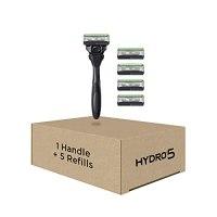 Schick Hydro Skin Comfort Sensitive 5 Blade Razor for Men, 1 Handle and 5 Refills